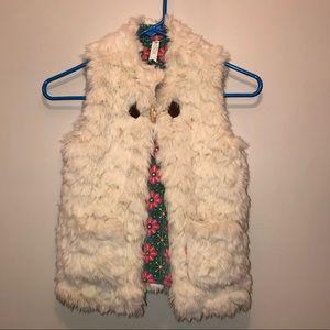 EUC Matilda Jane reversible faux fur vest size 10